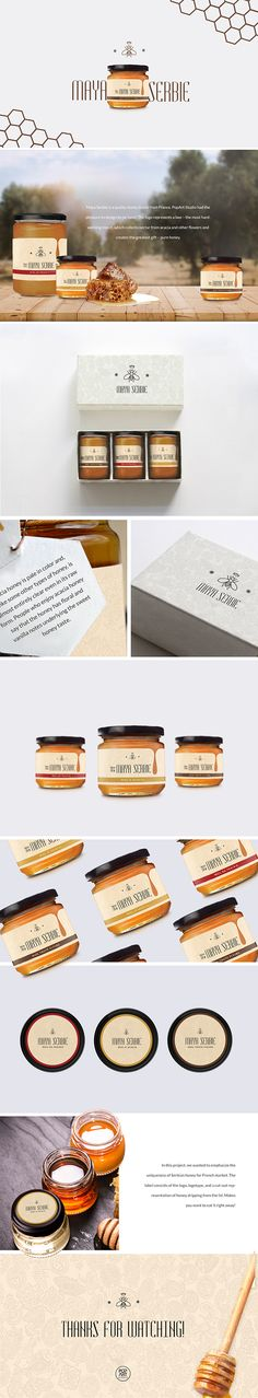 Who likes honey? We sure do! See our Maya Serbie honey packaging design project on Behance: