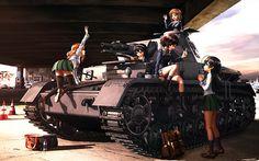 HD wallpaper: Girls und Panzer, tank, school uniform, women, mode of transportation Artistic Wallpaper, Cartoon Wallpaper Hd, Hd Wallpaper, Desktop Wallpapers, Hana, Gundam Wallpapers, Anime Military, Gray Eyes, Brown Eyes