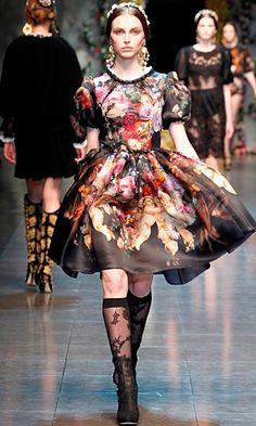 OMG.Love those print!! Dolce & Gabbana - Milan Fashion Week