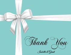 Tiffany Blue Thank You Card Personalized by mycharmingprints