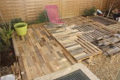 Terrasse palette19 600x400 Tomorrow Design   La recyclerie inventive in diy pallet ideas  with Pallets Design Creative Creations
