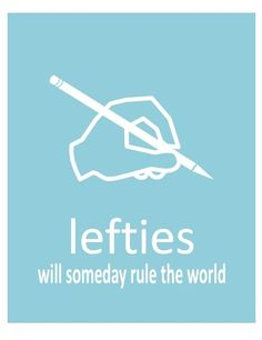 Indeed we shall! Go Lefties!!! And we'll do it right lol hehe get it...no...ok :/