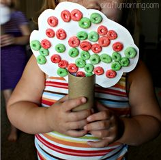 fall trees Learn how to make toilet paper roll fall tree crafts for kids! You will use fruit loops as the leaves and make an apple tree too.