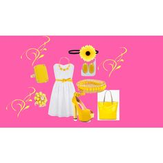Spring Yellow, created by jeannie-russell on Polyvore