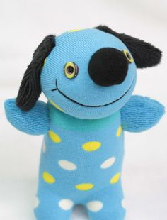 Handmade Polka Dot stuffed animal baby Home Decor by hellykary, $10.50