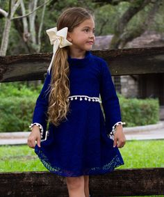 Look what I found on #zulily! Royal Blue Sweater Dress - Toddler & Girls #zulilyfinds