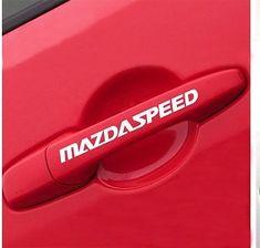 ZOOM ZOOM Decals Mazda door handle Vinyl stickers logo emblem set of 4