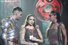 Le Roi Arthur (Florent Mothe), Leïa (Tamara Fernando) et la Fée Morgane (Zaho) - La Légende Du Roi Arthur