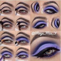 Lila #smink lépésről lépésre / #Purple makeup step by step