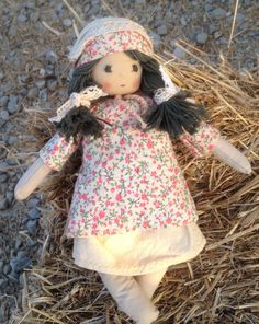 Natural, Fabric doll, handmade, cotton