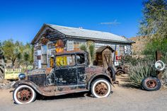 Old gas station on route 66, Arizona, USA ~ by Ingrid Siemons
