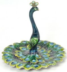 Peacock Ring Holder / Jewelry Holder: Peacock Gifts - Cell Phone Ring Stand - Ideas of Cell Phone Ring Stand - Peacock Ring Holder / Jewelry Holder. I bought it from Cracker Barrel last summer! Peacock Ring, Peacock Tattoo, Peacock Jewelry, Peacock Decor, Peacock Art, Car Cell Phone Holder, Iphone Holder, Fairy Gifts, Fairy Figurines