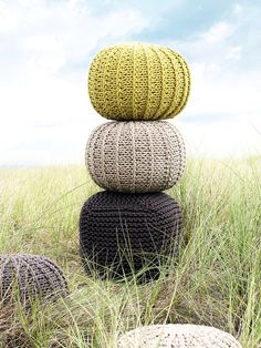 Knitted poufs from Nordic House -love the colours; i could make these... or someone could make them for me ;)