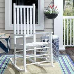 Best famous Shantaya Middle Sized Adult Rocking Chair by Highland Dunes Wicker Rocking Chair, Outdoor Rocking Chairs, Wicker Chairs, Patio Chairs, Traditional Rocking Chairs, Outdoor Patio Swing, Patio Glider, Wood Patio, Modern Patio