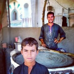 A portrait of the Konafa Makers in Esna, Upper Egypt