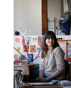 Jeweller Natalia Milosz-Piekarska in her Melbourne studio.  Photo – Lucy Feagins