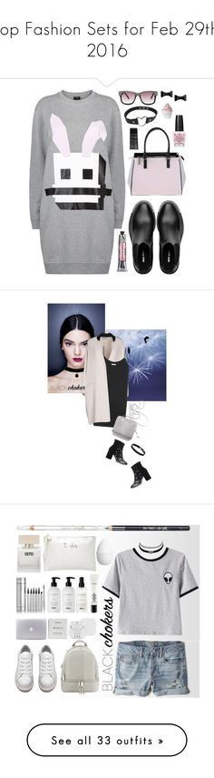 """""""Top Fashion Sets for Feb 29th, 2016"""" by polyvore ❤ liked on Polyvore featuring McQ by Alexander McQueen, Miu Miu, Versace, Soap & Paper Factory, Betsey Johnson, Marc by Marc Jacobs, OPI, Monki, Disney and blackchokers"""