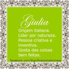 Significado do nome Giulia | Significado dos Nomes