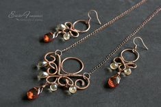 copper-wire-wrapped-set-with-amber-crystals1-w.jpg (1000×667)