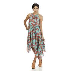 Blue Floral Tiered Dress - Dresses - Jessica Simpson - Official Site: Womens shoes, boots, dresses, apparel, handbags, jewelry, clothing, perfumes, music, hot pics, videos