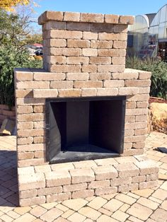 Simple and elegant outdoor fireplace kit by Whiz-Q Stone. This kit easily stacks together to create a custom looking outdoor fireplace with the ease of being a do-it-yourself project. Utilize the same stones to create other outdoor living elements. Visit Whiz-Q Stone for more great kits and design ideas. http://www.whiz-q.com
