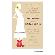 47 best pregnant baby bump invitations images on pinterest western mom in red cowboy boots pregnant silhouette mommy to be baby shower invitation for boy filmwisefo