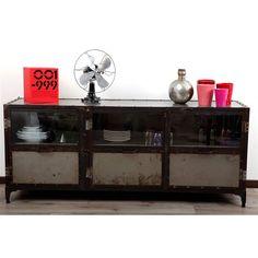 buffet industriel portes finition carbone barak 39 7 d co maison pinterest catalogue et. Black Bedroom Furniture Sets. Home Design Ideas