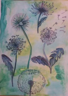 My Drawings, Dandelion, Watercolor, Plants, Painting, Art, Pen And Wash, Art Background, Watercolor Painting