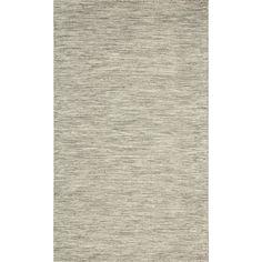 nuLOOM Flatweave Wool Contempoary Tweeded Grey Rug (7' 6 x 9' 6) | Overstock.com