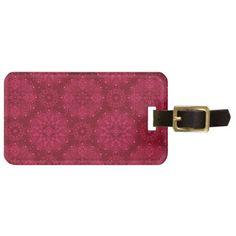 #Red ornament luggage tag - #Xmas #ChristmasEve Christmas Eve #Christmas #merry #xmas #family #holy #kids #gifts #holidays #Santa