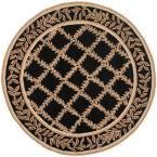 Chelsea Black/Gold 5 ft. 6 in. x 5 ft. 6 in. Round Area Rug