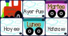 Tren de los días de la semana Portada Homeschool Kindergarten, Preschool, Homeschooling, Nurse Crafts, Interactive Notebooks, Classroom Decor, Back To School, Clip Art, Kids Rugs