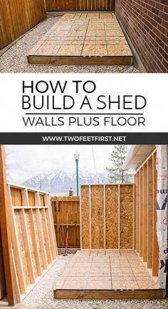 Do you need more storage at your house? Maybe you need a shed. Here is how to build shed walls plus the floor. That way you can build your own shed! Start building amazing sheds the easierway with a collection of shed plans!