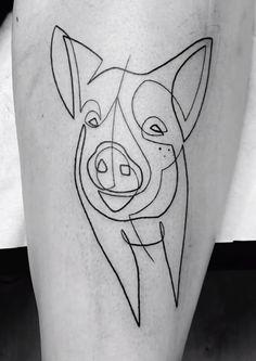 Mo Ganji pig tattoo