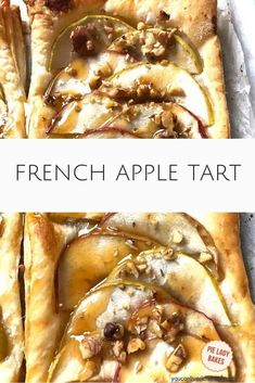 This French Apple Tart Recipe is the just about perfect.  Anytime I use puff pastry in a recipe I'm delighted with the result and you will be too.  Just get the puff pastry out of the freezer and let it thaw (you can easily unthaw overnight in the fridge)