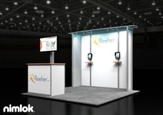Nimlok specializes in trade show ideas and trade show booth design. For Reeher we created 10x10' custom booth solution to meet their needs.