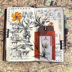 My Pocket, Botanical Drawings, Bullet Journal, Scrapbook, Happy, Journalling, Image, Instagram, Scrapbooking