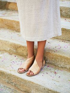 Mont Blanc Sandal | Made with the finest Spanish craftsmanship and leather, this open toe shoe features side cutouts.  Slight stacked heel.   *By Free People   *Artisan crafted from fine leathers and premium materials, FP Collection shoes are coveted for their signature vintage aesthetic.
