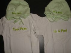 Twin diaper shirts and hats