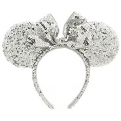Minnie Mouse Ear Headband - Silver Sequins | Ear Hats & ''Mickey Mitts'' | Disney Store