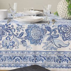 PRINTED POLYESTER TABLECLOTH
