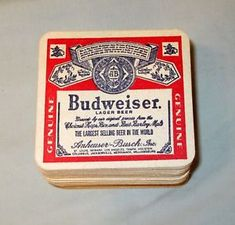 48 VINTAGE BUDWEISER BEER COASTERS LAGER BEER 1980s ANHEUSER BUSCH UN-USED
