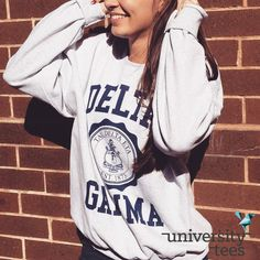 Fall is coming. Vintage crewnecks are a must | Delta Gamma | Made by University Tees | www.universitytees.com