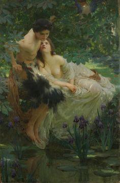 """""""Narciso y Eco"""" (1895) de Solomon Joseph Solomon (1860-1927)"""