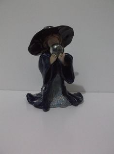 Pagan, Wicca, Luna the Moon Child, Little Witch, Altar Figurine, Hand Crafted, Ceramic