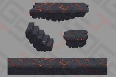 Platform magma 001 by Graphics 4 Games on Creative Market