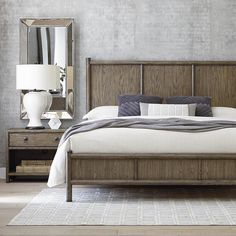 Peninsulas minimalist beauty and artisan finishes in our Peninsula Panel bed reflect the essence of the ocean and island life.