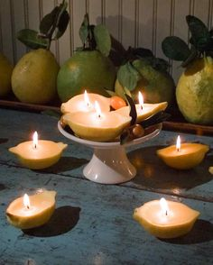 Lovely Lemon Candles! #DIY
