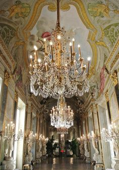 Hallway at Palazzo Reale in Genova Italydoubling as the Royal palace of Monacoin the new movie about princess Grace of Monaco