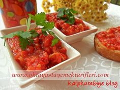 Lutenitsa Tarifi Appetizer Salads, Appetizer Recipes, Appetizers, Cute Food, Yummy Food, Lunches And Dinners, Meals, Turkish Recipes, Ethnic Recipes
